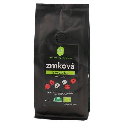 Fair trade bio zrnková káva Peru Gr. 1 arabica, 250 g
