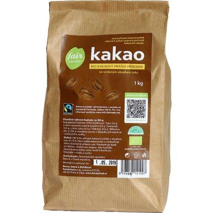 Bio kakaový prášek z Dominikánské republiky, 1 kg