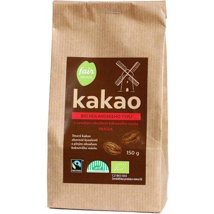Bio kakaový prášek plnotučný holandského typu, 150 g
