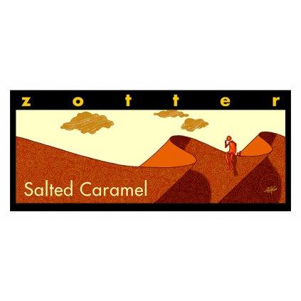 Fair trade bio hořká čokoláda Zotter Slaný karamel