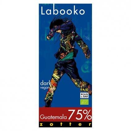 Fair trade bio hořká čokoláda Zotter Labooko Guatemala 75 %