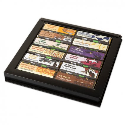Fair trade kolekce bio čokolád Zotter v dárkové kazetě, 12 druhů