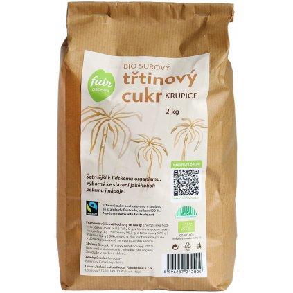 Bio surový třtinový cukr z Paraguaye, 2 kg