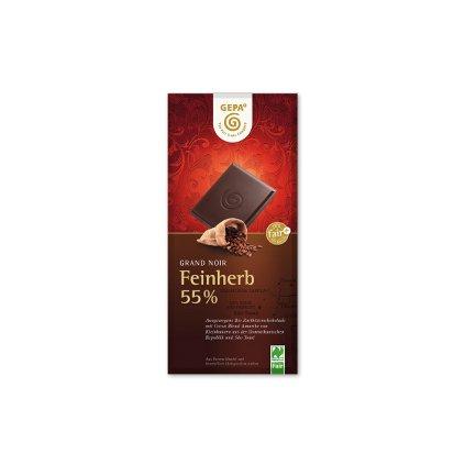 Bio hořká čokoláda 55 % kakaa, 100 g