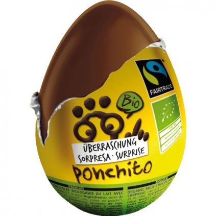 Fair trade bio čokoládové vajíčko Ponchito