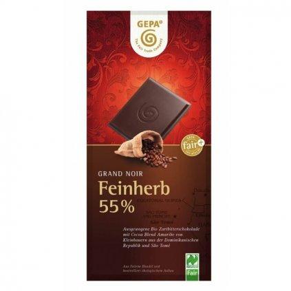 Fair trade bio hořká čokoláda s 55 % kakaa