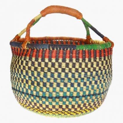 Fair trade ručně pletený bolga koš z Ghany, 36 42 cm