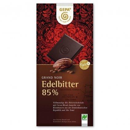 Fair trade bio hořká čokoláda Gepa s 85 % kakaa