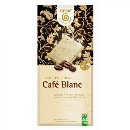 Fair trade bio bílá čokoláda s kávou