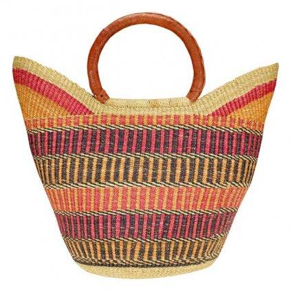 Fair trade bolga koš ve tvaru U z Ghany