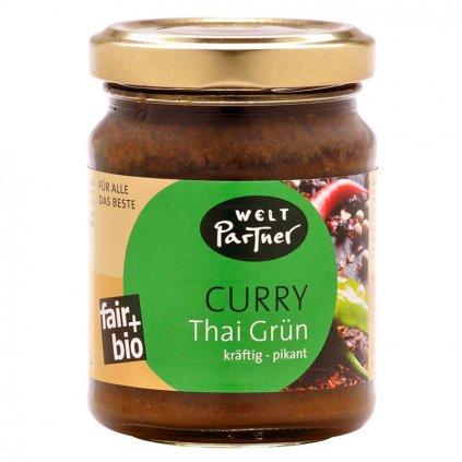 Fair trade bio kari pasta thajská zelená
