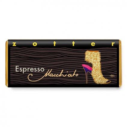 Fair trade bio hořká čokoláda Zotter Espresso Macchiato