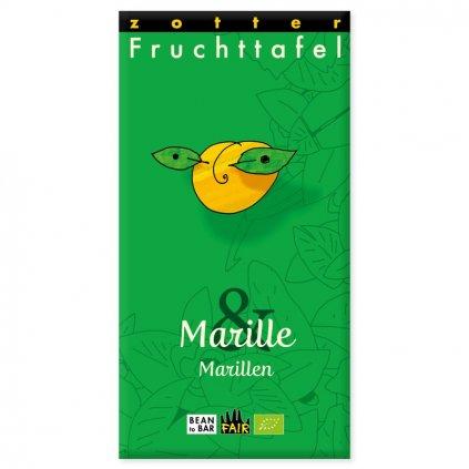 Fair trade bio meruňková čokoláda Zotter s meruňkami