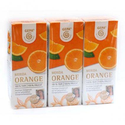 Merida  pomerančový džus 3x200ml