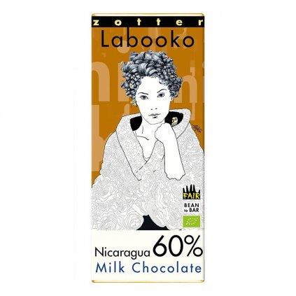Fair trade bio mléčná čokoláda Zotter Nikaragua 60 %