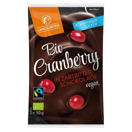 Fair trade bio brusinky v jemně hořké čokoládě