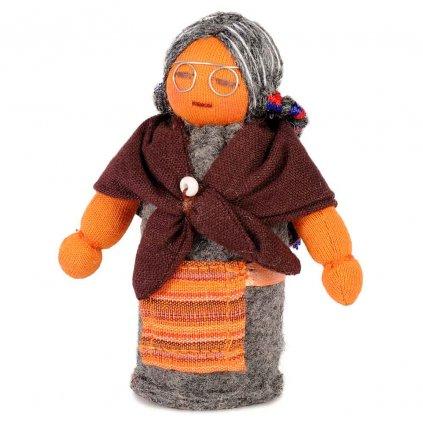 Fair trade ručně šitá tibetská panenka Babička dolls4tibet