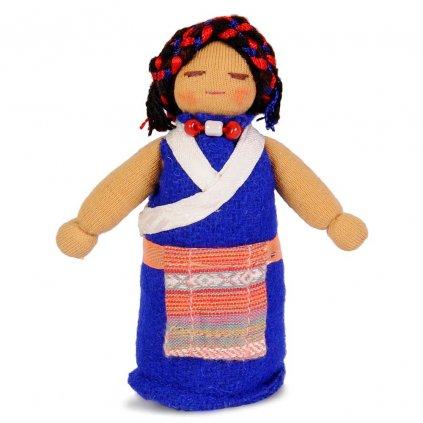 Fair trade ručně šitá tibetská panenka Maminka dolls4tibet