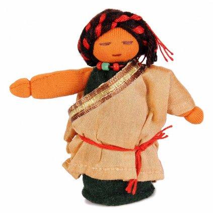 Fair trade ručně šitá tibetská panenka Tatínek dolls4tibet