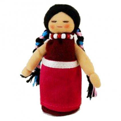 Fair trade ručně šitá tibetská panenka Dcera dolls4tibet