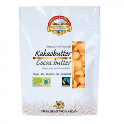 Fairtrade bio kakaové máslo z Peru ve tvaru kapek, 100 g