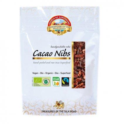 Bio drcené nepražené kakaové boby z Ekvádoru, 100 g