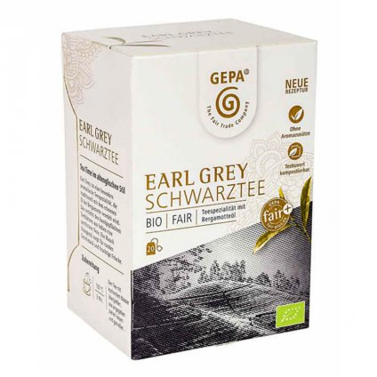 Fair trade bio černý čaj Earl Grey porcovaný