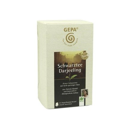 Fair trade bio černý čaj Darjeeling sáčkovaný