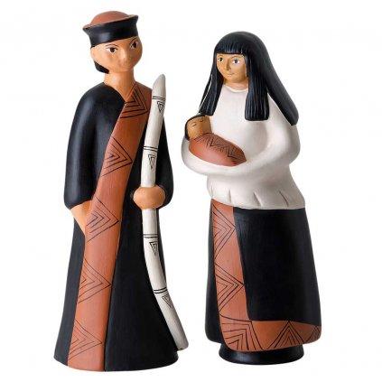Fair trade hliněný betlém Svatá rodina z Peru