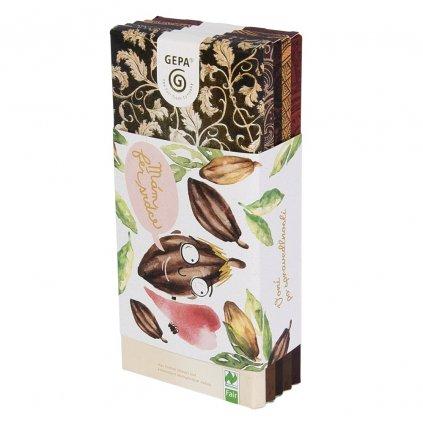 Fair trade bio dárková sada čokolád Mám fér srdce, 500 g