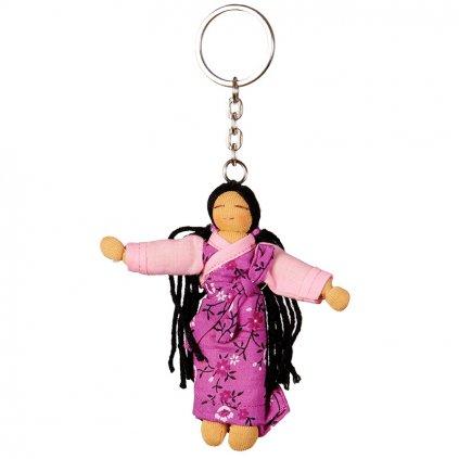 Fair trade přívěsek Hadrová panenka Tibetská dívka dolls4tibet