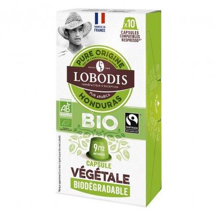 Fair trade kompostovatelné bio kávové kapsle Honduras Lobodis s nulovým odpadem, 10 ks, Nespresso