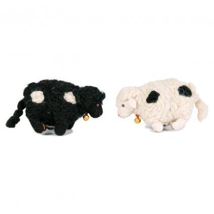 Fair trade tibetská ovečka dolls4tibet bílá a černá