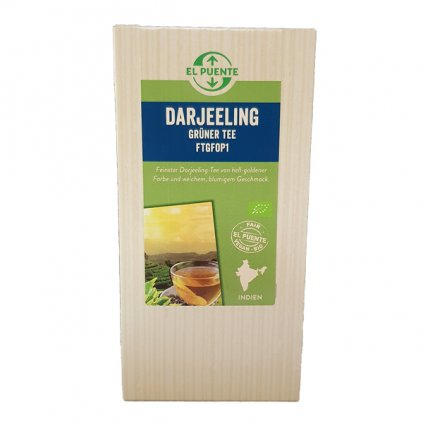 Bio sypaný zelený čaj Darjeeling FTGFOP1, 100 g