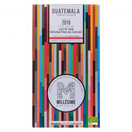Řemeslná fair trade bio mléčná čokoláda s kakaovou náplní Guatemala 50 %
