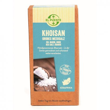 Fair trade mořská sůl Khoisan hrubá z JAR, 500 g