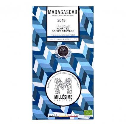 Řemeslná fair trade bio hořká čokoláda s divokým pepřem Madagaskar 75 %, 70 g