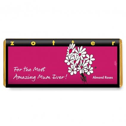 Ručně plněná fair trade bio mléčná čokoláda Zotter Pro tu nejúžasnější maminku na světě
