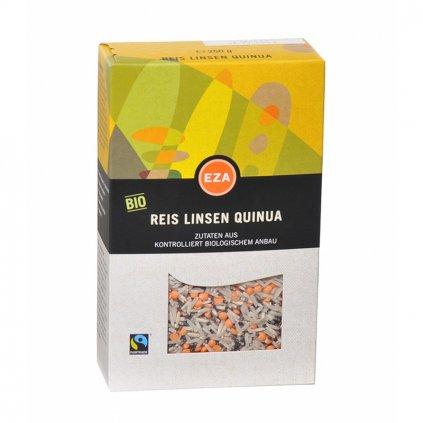 Fair trade bio přílohové trio rýže čočka quinoa bez lepku, 250 g