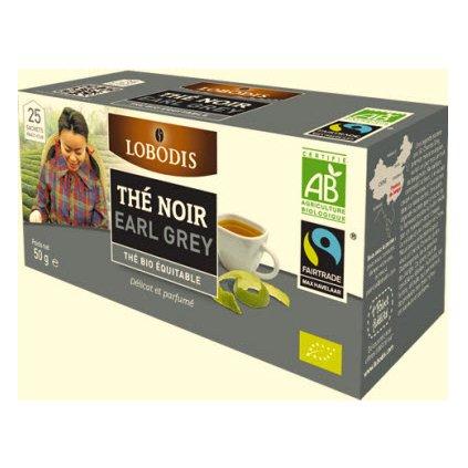 Bio černý čaj Earl Grey, porcovaný 25x2 g