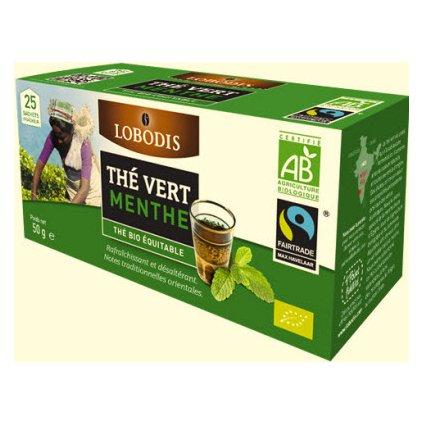 Bio indický zelený čaj s mátou, porcovaný 25 x 2 g