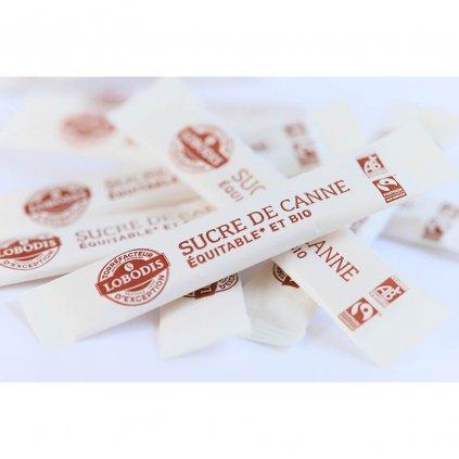 Fair trade bio nerafinovaný třtinový cukr z Paraguaye, jednoporcové balení 4 g