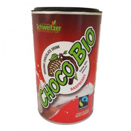 Bio horká čokoláda s malinovým aroma, 250 g