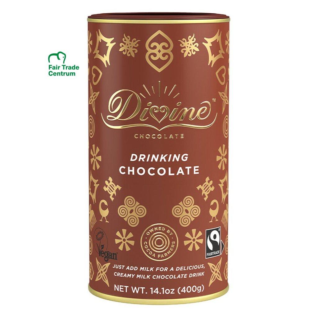 Fairtrade horúca čokoláda s 25% kakaa Divine z Ghany