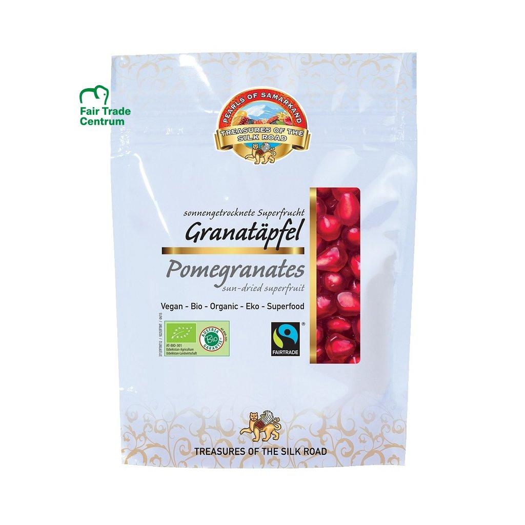 Fairtrade bio granátové jablko sušené na slunci, 100 g