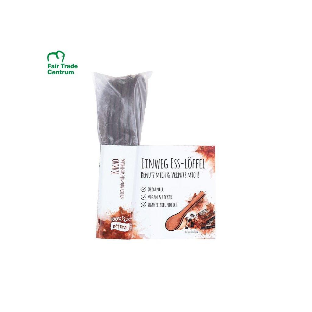 Fair trade jedlé lyžičky s kakaom z Indie