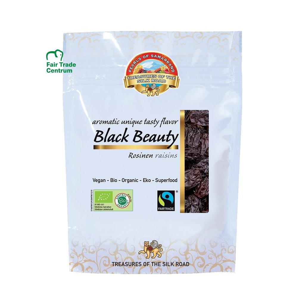 Fair Trade bio hrozinky Černá kráska z Uzbekistánu, sušené na slunci, 100 g