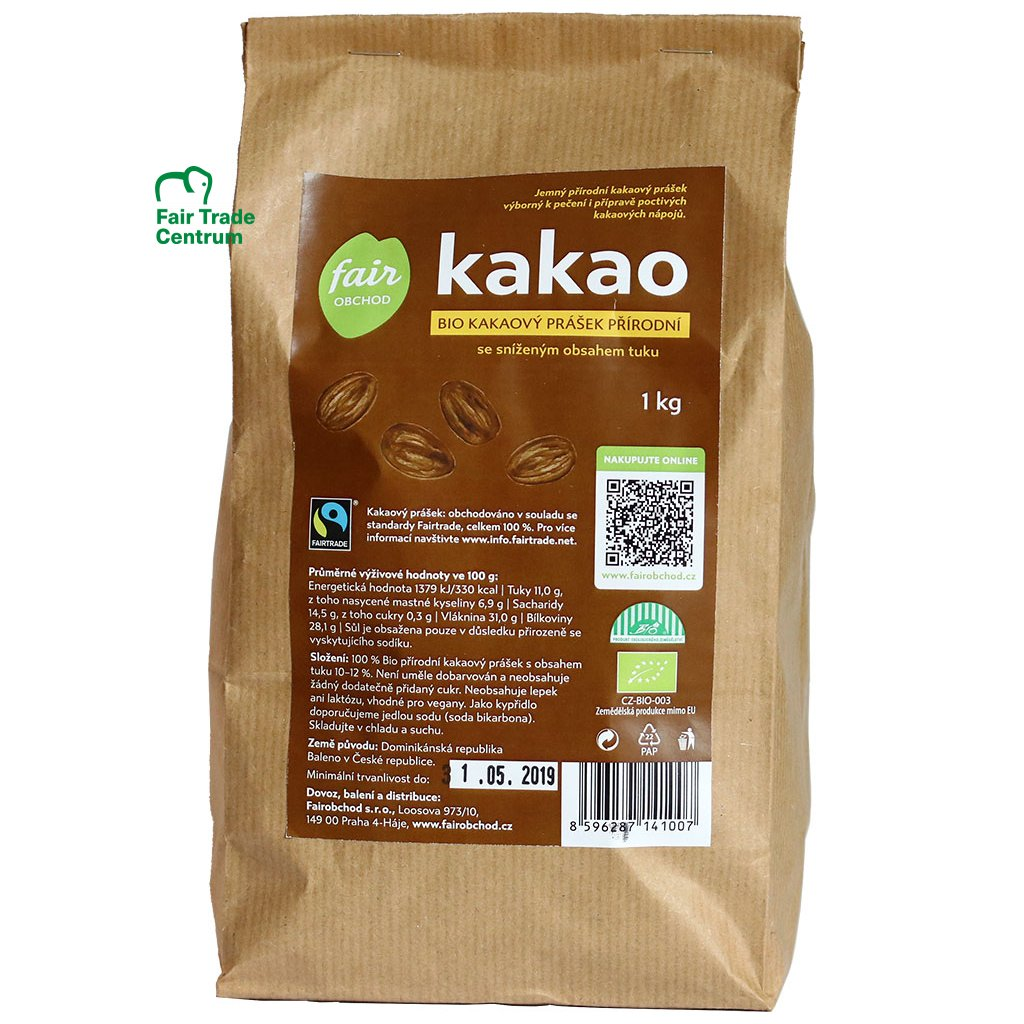355 bio kakaovy prasek prirodni 1 kg