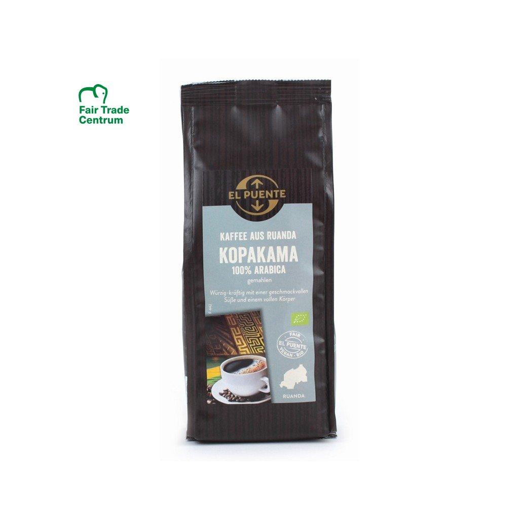 Fair trade bio mletá káva arabika ze Rwandy Kopakama, 250 g