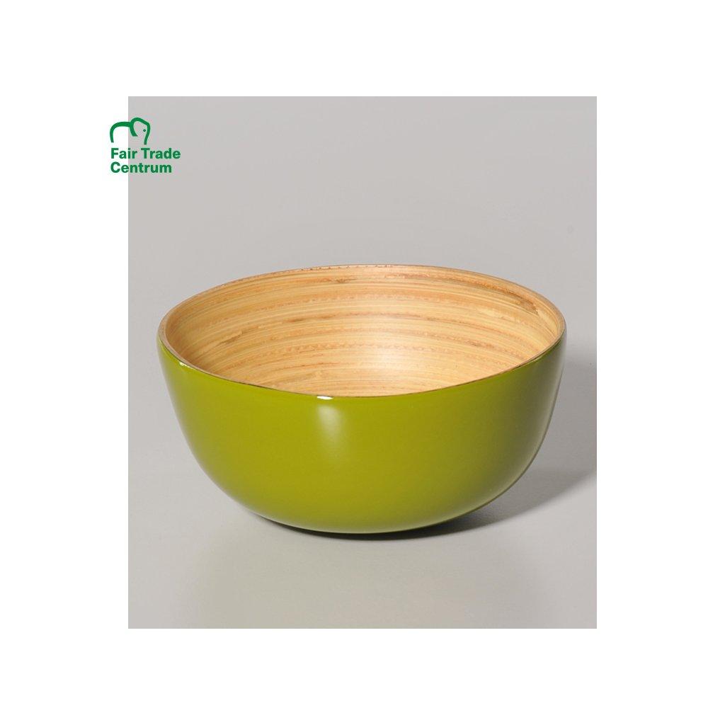 3579 bambusova miska z vietnamu zelena 13 cm